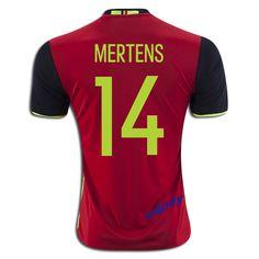 2016 UEFA Euro Belgium Dries Mertens 14 Youth Home Soccer Jersey