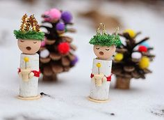 these are cute - they would not be hard to adapt to make angels - - - Lucias