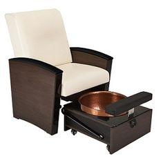 Mystia Mani Pedi Chair with TuckAway Foot Bath from Living Earth Crafts