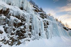Frozen waterfall in Troms region, Norway - Gavin Hellier/JAI/Corbis