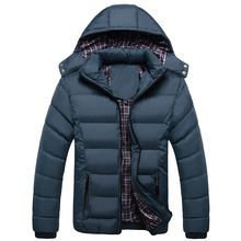 2016 Men Hoody Winter Coats Male Hooded Plus Size Jackets Teenager Slim Fit Windbreaker Down Parka Good Quality