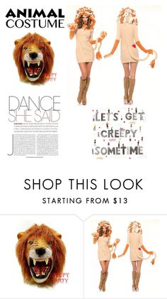 """lioness"" by agnesmakoni ❤ liked on Polyvore featuring costumeparty"