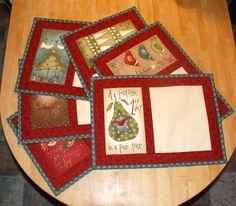 vánoční obrázky Prostírání je ušité ze zahraničních a českých bavlněných látek s motivem tak trochu vánočních obrázků v zajímavé barevnosti z kolekce Anni Downs 12 Days of Christmas. Látky jsou vyprané a vysrážené. Pro zpevnění je vložen sakon a všechny vrstvy jsou prošity. Spodní látka je béžová. Každý obrázek je jiný, s číslicí, při objednání je ...