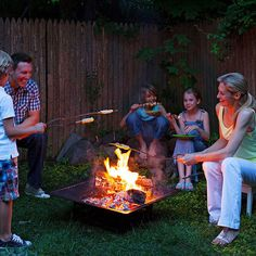Invite a few friends over for a night of great campfire food -- even the dessert is roasted! -- and laugh-out-loud games.