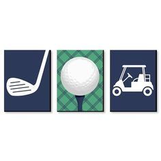 Golf Nursery, Nursery Themes, Themed Nursery, Sports Room Decor, Game Room Decor, Kids Room Wall Art, Nursery Wall Art, Thema Golf, Golf Room