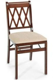 Cherry Lattice Folding Chair - Set of 2