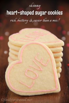 These skinny sugar cookies don't taste healthy at all! They're SO buttery & super easy to make. You'll never need another recipe again! @Amy [Foods for the Soul]
