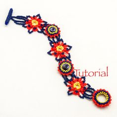 Beadweaving Pattern Firecracker Bracelet Tutorial Digital Download