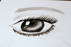 I can't draw, never have never will, but this is my attempt at drawing an eye.