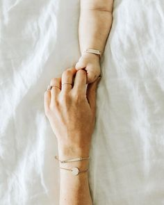 minimal matching mom and baby bracelets