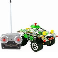 [$19.17] DIY Educational Toys,Puzzle Metal Adventure vehicle with Remote Control, 194pcs