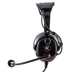 2462e02f040 KORE AVIATION KA-1 Premium Gel Ear Seal PNR Pilot Aviation Headset with MP3  Support