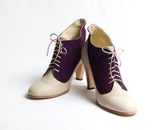 1920's vintage inspired two tones high heels  ok i want these bad for where and when who knows but I do know 1 thing i want them! they custom order to your foot, etc.!!