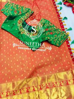 Kanchipuram pattu sarees with Maggam work blouses by Suneetha Designer boutique! Work Blouse, Tree Skirts, Blouse Designs, Christmas Sweaters, Christmas Tree, Boutique, Holiday Decor, Sarees, Blouses