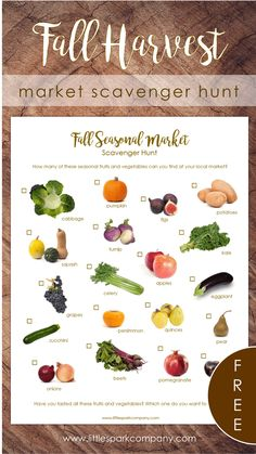Print and take along on your next market trip for a fun and interactive way to identify seasonal produce.Access this and many other FREE printables when you subscribe to our Printables Library (no strings attached)! Forest School Activities, Autumn Activities, Free Preschool, Preschool Activities, Montessori Materials, Harvest Market, Montessori Homeschool, Fruit In Season, Language Activities