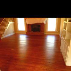 Red Chestnut stain on white oak floors Installing Hardwood Floors, Refinishing Hardwood Floors, Floor Refinishing, Red Oak Floors, Floor Stain, Stairs, Flooring, Interior, Kitchen Ideas