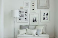 all white rooms french | White picture frames in white interior