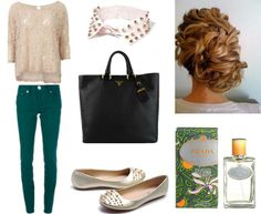 Daily outfit made by Broshka.  Gold flats available on www.broshka.pl
