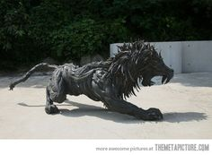 Made from old tyres