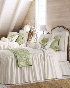 this farmhouse bedroom, great decor all around! Cute for guest bedroom or older child. Home Bedroom, Bedroom Decor, Bedroom Ideas, Bedroom Inspiration, Design Bedroom, Girls Bedroom, Master Bedroom, Bedroom Colors, Home And Deco