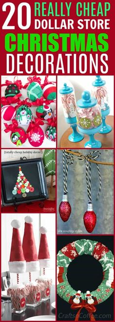 20 Easy And Cheap Dollar Store Christmas Decorations You Can Make At Home!!  #