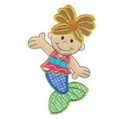 Mermaid Applique - 4 Sizes! | Beach/Ocean | Machine Embroidery Designs | SWAKembroidery.com Designs by Juju