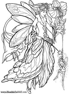 Coloring page elf with magic wand