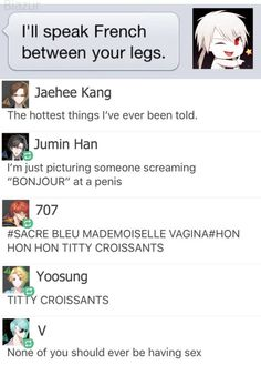 Nobody thinks it's weird that Jumin imagined a penis and not a vagina? So the question is... DOES JUMIN HAN IS GAY???!