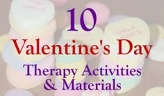 Speech Therapy Ideas: Valentine's Day Therapy Activities and Materials! Pinned by SOS Inc. Resources. Follow all our boards at pinterest.com/sostherapy/ for therapy resources.