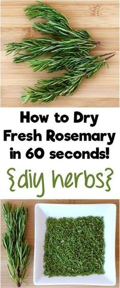 Designs For Garden Flower Beds How To Dry Fresh Rosemary In 60 Seconds Turn Your Homegrown Herbs Into Diy Herbs For Your Cupboard With This Simple Little Trick From Rosemary Recipes, Herb Recipes, Recipes With Fresh Herbs, Rosemary Ideas, Loquat Recipes, Cooking With Fresh Herbs, Rosemary Plant, Sante Bio, Cooking Tips