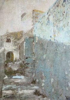'Blue Entrance' von florin bei artflakes.com als Poster oder Kunstdruck $16.63