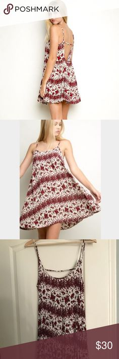 Brandy Melville Red Rose Jada Dress Rare floral patterned Jada dress. Super cute and flowy. Perfect for summer! Brandy Melville Dresses Mini