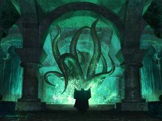 """""""the great summoning"""" (art for the """"call of cthulhu ccg"""" series 
