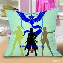 Pokemon Logo Team MYSTIC Pokeball Pillow Cases