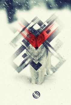 """inspirationfeed: """" Wolves just look cool by Brian Bollig """" Graphic Design Posters, Graphic Design Illustration, Graphic Design Inspiration, Graphic Art, Illustration Art, Daily Inspiration, Music Visualization, Typography Logo, Typography Design"""