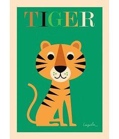 Poster met tijger van OMM Design uit Zweden - nordiklivingstore