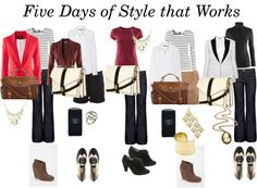 How to Have Five Days of Style that Works by Ashley Laurel including the best places to find pieces for your wardrobe.