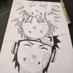 From Jiraiya, to Obito, to Naruto. Same kind of smile.