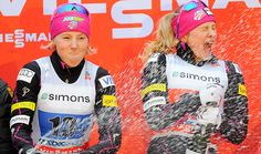 Coupe du monde: les fondeurs à Québec. Les Américaines Kikkan Randall et Jessica Diggins ont remporté la finale féminine par équipe, vendredi après-midi.  Photo : Didier Debusschère / Agence QMI