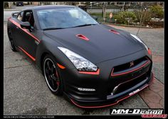 Matte Black Nissan GTR Styled with Stillen