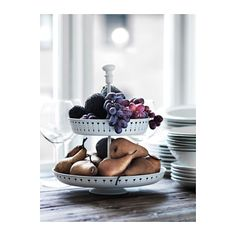 """$19.99, 11.5""""DIA x 13""""H, White Steel Serving Stand"""