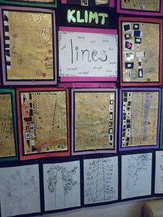 Klimt! Lines - art and math! What a great inspiration :)