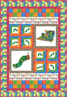 Be Sew Happy Quilt Shop - The Very Hungry Caterpillar Encore Quilt Kit by Jean Ann Wright, $79.95 (http://www.besewhappy.com/products/The-Very-Hungry-Caterpillar-Encore-Quilt-Kit-by-Jean-Ann-Wright.html)