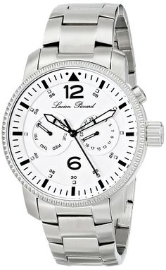 Lucien Piccard Men's LP-13017-22 'Expeditor' Stainless Steel Watch * Be sure to check out this awesome watch.