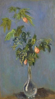 """Flowers in a Vase"" ・ by Claude Monet ・ Completion Date: 1882 ・ Style: Impressionism ・ Genre: flower painting"