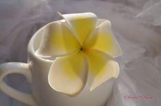 Plumeria Flower barrette Floral clip Cold porcelain от SweetRose68