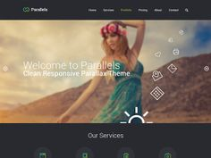 Parallels is a one-page PSD website template provided in white and dark versions. Free PSD designed and released by Vitaliy Kudelevskiy.