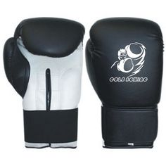 GB-200162 Boxing Gloves, Cowhide Leather, Machine Mold, Strap with Elastic and Velcro Fastener.