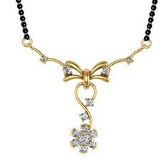 Beautiful Designed traditional Mangalsutra pendant. Nice tanmaniya for a newly wed bride.