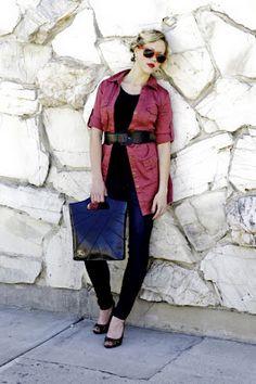 Clay purse fashion shoot.